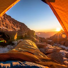 The perfect sunrise. #Camping