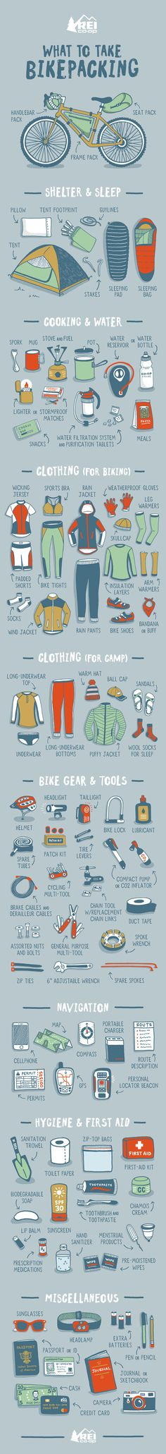 Getting ready to head out on a bikepacking adventure? Our comprehensive checklist includes essentials for biking and camping. Pedal power for the win!