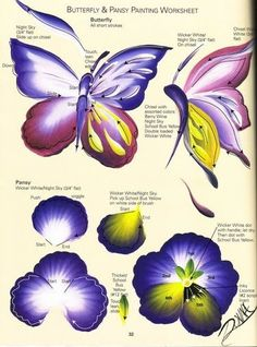 Butterfly and flower worksheet