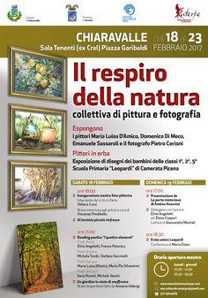"""""""Il respiro della natura"""": mostra foto-pittorica, reading poetico e letture leopardiane a Chiaravalle 18-23 febbraio"""
