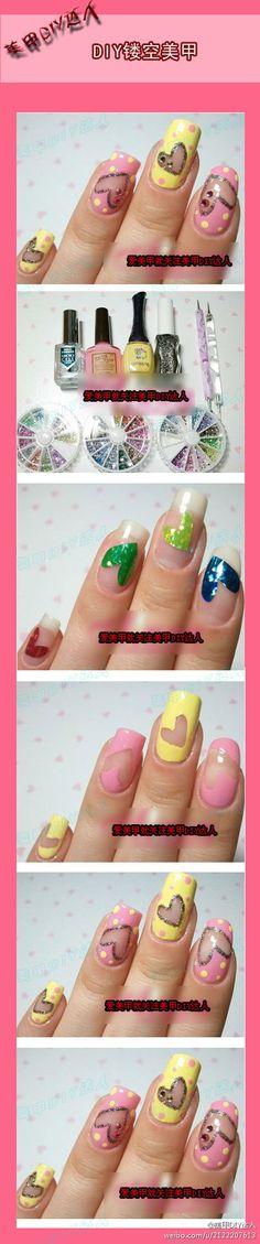How to - natural nail show through nail art