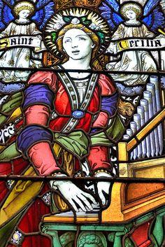 St Cecilia Stained Glass by Michael La Grassa, via Flickr - Pinterest