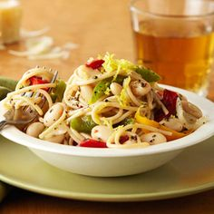 Pasta Primavera-Pasta Primavera is an easy, delicious and healthy recipe. It's a low calorie, low sugar, low sodium, low cholesterol, Vegetarian, a Diabetic and a Weight Watchers (7) Points+ recipe. Makes 4 servings at 1-1/4 cups per serving.