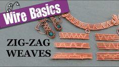 Wireweaving Basics: Zig-Zag Weaves tutorials for wire weaving Wire Wrapped Pendant, Wire Wrapped Jewelry, Wire Weaving Tutorial, Bijoux Fil Aluminium, Wire Jewelry Making, Making Bracelets, Wire Jewellery, Wire Bracelets, Jewellery Making
