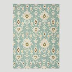 The organic shapes in this rug along with the soft colors make it a great opening statement for any home. ... WorldMarket.com: Aqua Jatana Flat-Woven Wool Rug