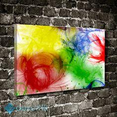 Abstract Fırça Tablo #soyut_kanvas_tablo