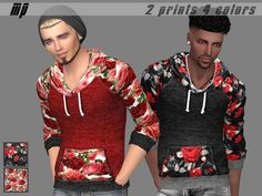 MartyP's MP Male Floral Hoodies