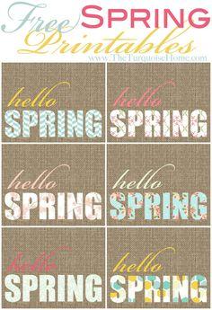 Hello Spring Free Printables - Enjoy!!