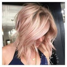 Rose Gold Hair is The Hottest Trend This Season Ombre Hair ❤ liked on Polyvore featuring hair and hair styles