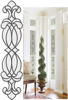 Hanover Clear Stained Glass Wall Sticker - Wall Sticker Outlet
