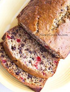 Breakfast | Chocolate chip cherry banana bread