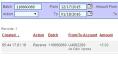 Get paid daily with acx,NO SCAM You dont have to work for hours, I WORK FROM HOME less than 10 minutes and I manage to cover my LOW SALARY INCOME. If you are a PASSIVE INCOME SEEKER and want to make money online, then Ad ClickXpress (Ad Click Xpress) is the best ONLINE OPPORTUNITY for you! Proof picture included