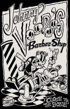 Johnny Voodoo's Barber Shop by Shawn Dickinson 1930s Cartoons, Old School Cartoons, Illustrations, Illustration Art, Arte Lowbrow, Bd Comics, Cartoon Art Styles, Vintage Cartoon, Art Graphique
