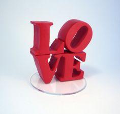 Handmade custom love cake topper no by BlueButterflyDesign on Etsy