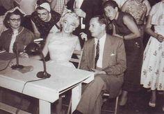 August, 1955. Beard judging contest in Illinois.