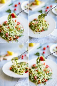 Zucchini noodle salad  •3 zucchini, spiralized   •1 cup crumbled fetta cheese   •1 whole chili, thinly sliced   •250 grams cherry tomatoes, halved     For the dressing   •¼ cup extra virgin olive oil   •juice of half a lemon   •salt and pepper to taste  Instructions   1.Combine all the ingredients together and serve immediat
