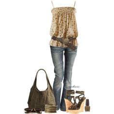 Brass Belt by cynthia335 on Polyvore