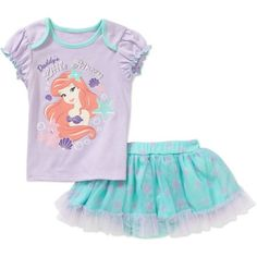 Disney Princess Newborn Baby Girls' Tee and Skirted Bloomers Outfit Set - Walmart.com
