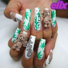 Weed nail art using actual marijuana popsugar beauty nails weed nails rasta nails dope nail designs nail art tutorials nail art ideas nail art hacks salon ideas dope nails nail trends prinsesfo Image collections