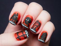 Chalkboard Nails: 31DC2013 Day 23: Inspired by #Disney Hercules