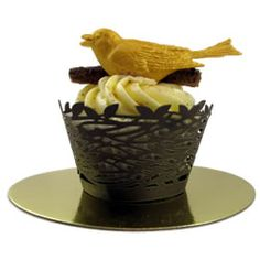 Cupcake Wrapper in a Birds Nest Design-Cute for a Hunger Games Theme
