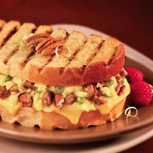 Breakfast Panini with Pecans, Cheddar and Sausage