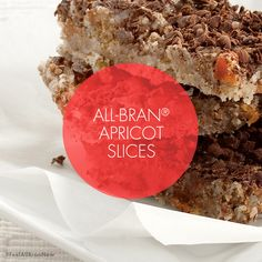 Kellogg's All-Bran S. added 5 new photos to the album: Recipes. Apricot Slice, All Bran, Recipe Images, Cooking Recipes, Health, Desserts, Food, Tailgate Desserts, Salud