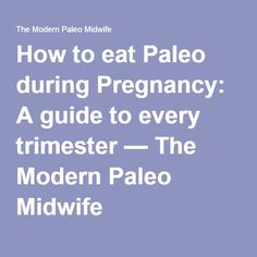 How to eat Paleo during Pregnancy: A guide to every trimester — The Modern Paleo Midwife