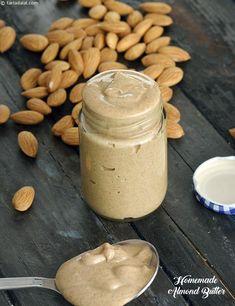 હોમમેઇડ આલ્મન્ડ બટર ની રેસીપી , Homemade Almond Butter, for Weight Loss and Athletes Recipe In Gujarati Indian Snacks, Indian Food Recipes, Gujarati Recipes, Brain Food For Kids, Homemade Almond Butter, Weight Loss Snacks, Butter Recipe, Cooking Recipes, Snacks Recipes