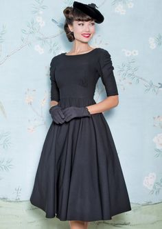 October Swing Dress in Black - stopstaring Vintage Style Dresses, 50s Dresses, Dance Dresses, Sexy Dresses, Beautiful Dresses, Fashion Dresses, Girls Dresses, 1940s Outfits, Retro Outfits