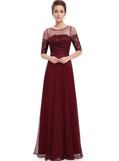 Awesome Great Women Prom Gown Illusion Neckline Prom Dress 08459  Ever-Pretty Burgundy Size 4 Cool db4bc87ddd06