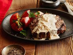 How to make Ree's Rib Eye Steak with Onion Blue Cheese Sauce #RibEye #GrillingCentral #ThePioneerWoman