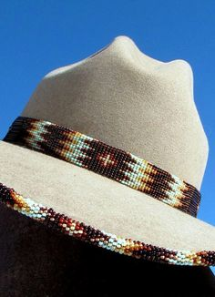 Seafoam on La Ranchera Palm Hat American Indian Decor, Beaded Hat Bands, Western Chic, Native American Beadwork, Leather Hats, Love Hat, Cowgirl Style, The Ranch, Loom Beading