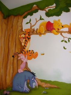 winnie the pooh mural - Google Search