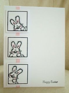 Happy Easter Card by ThePaperMenagerie on Etsy, $4.00