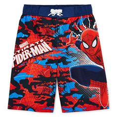 fa2a74dcdf8c9 Marvel® Spider-Man Swim Trunks - Preschool Boys 4-7 - JCPenney