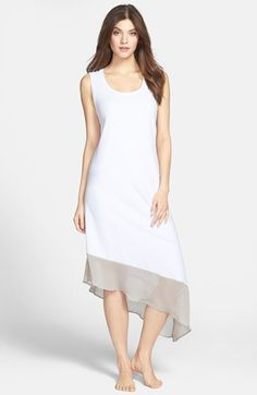 high/low scoop neck tea dress