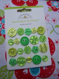 Boutique Buttons by Doodlebug Design Inc., Limeade Assortment