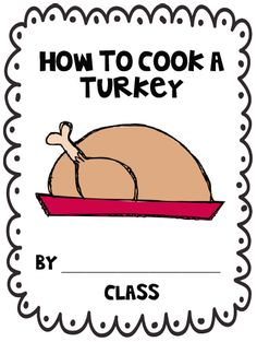 how to cook a turkey writing freebie