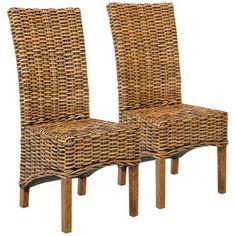 Safavieh Set of 2 Isla Side Chairs - #4M343 | LampsPlus.com