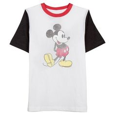 Men's Mickey Colorblock T-Shirt White : Target