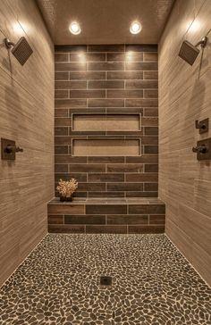 15 river rock shower ideas bathrooms