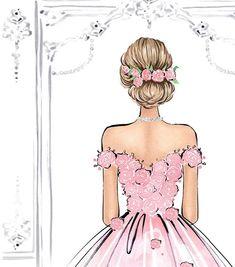 Romantic Wall Art Watercolor Fashion Illustration Pink Rose Art Princess Bedroom Art Fashion Wall Art Rose Painting Fashion Poster Art - fix. Art Mural Fashion, Fashion Painting, Fashion Art, Elite Fashion, Pink Fashion, Fashion Design, Dress Fashion, Fashion Brand, Trendy Fashion
