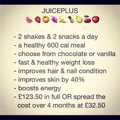 Juice plus + shakes weightlossfeel greatcapsules 17+ fruit & veg