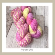 Sunset shades sparkle stellina sock/4 ply by allWoolThatEndsWool