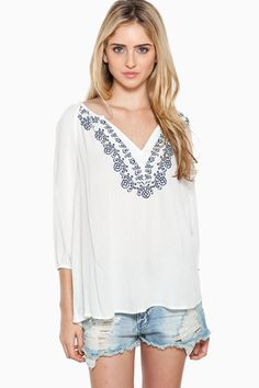ShopSosie Style : Perfect Day Blouse in White $46