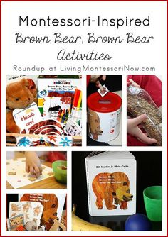 Following are some free printables and Montessori-inspired activities for toddlers and preschoolers to extend the reading of Brown Bear, Brown Bear, What Do You See?