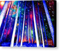 Magical Forest Canvas Print featuring the mixed media Magical Forest by Daniel Janda