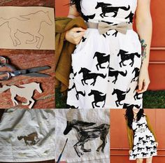 DIY Horse print stencyl From: https://www.facebook.com/pages/Red-Velvet-Shop/148165501885246?directed_target_id=0