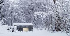 Concrete Minimalist Cabin in the Swiss Alps